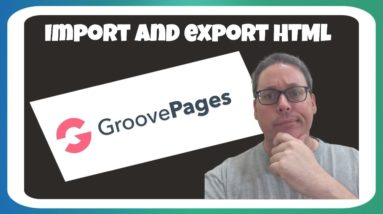 Groovepages Review | IMPORT EXPORT HTML PAGES | How To Create Landing Page For Affiliate Marketing